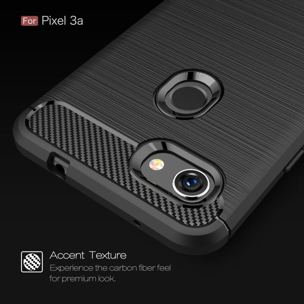 Brushed TPU Deksel Google Pixel 3a Black