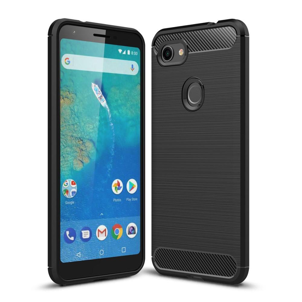 Brushed TPU Deksel Google Pixel 3a XL Black