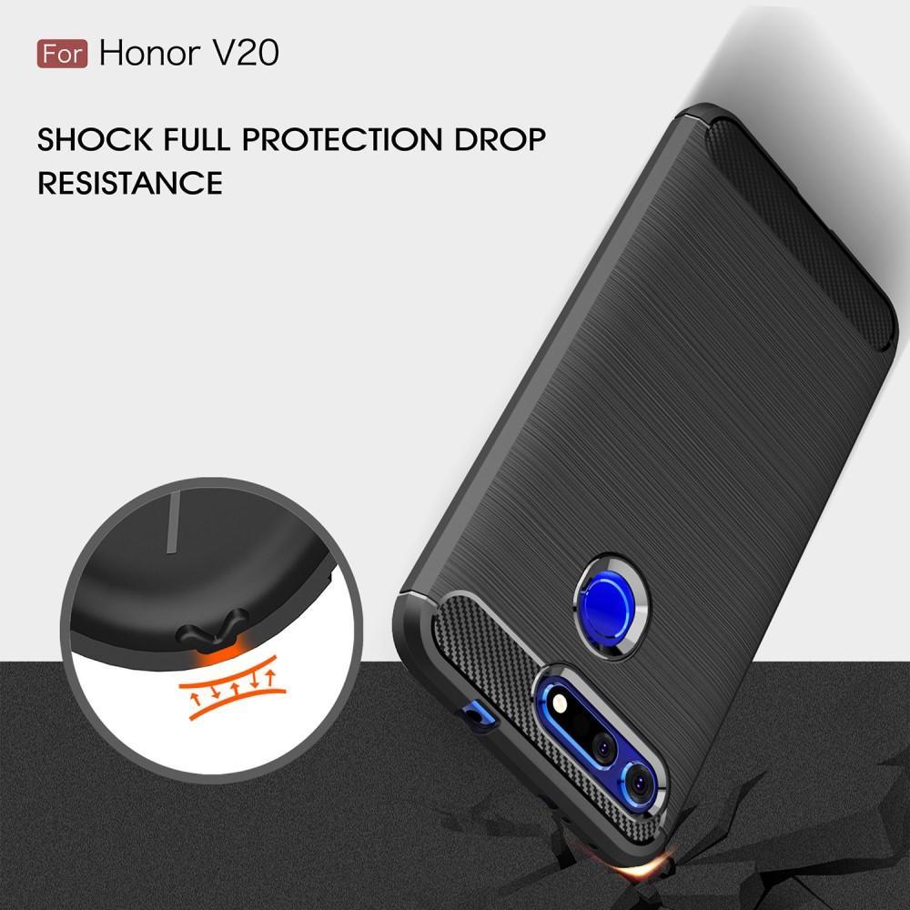 Brushed TPU Deksel Huawei Honor View 20 Black