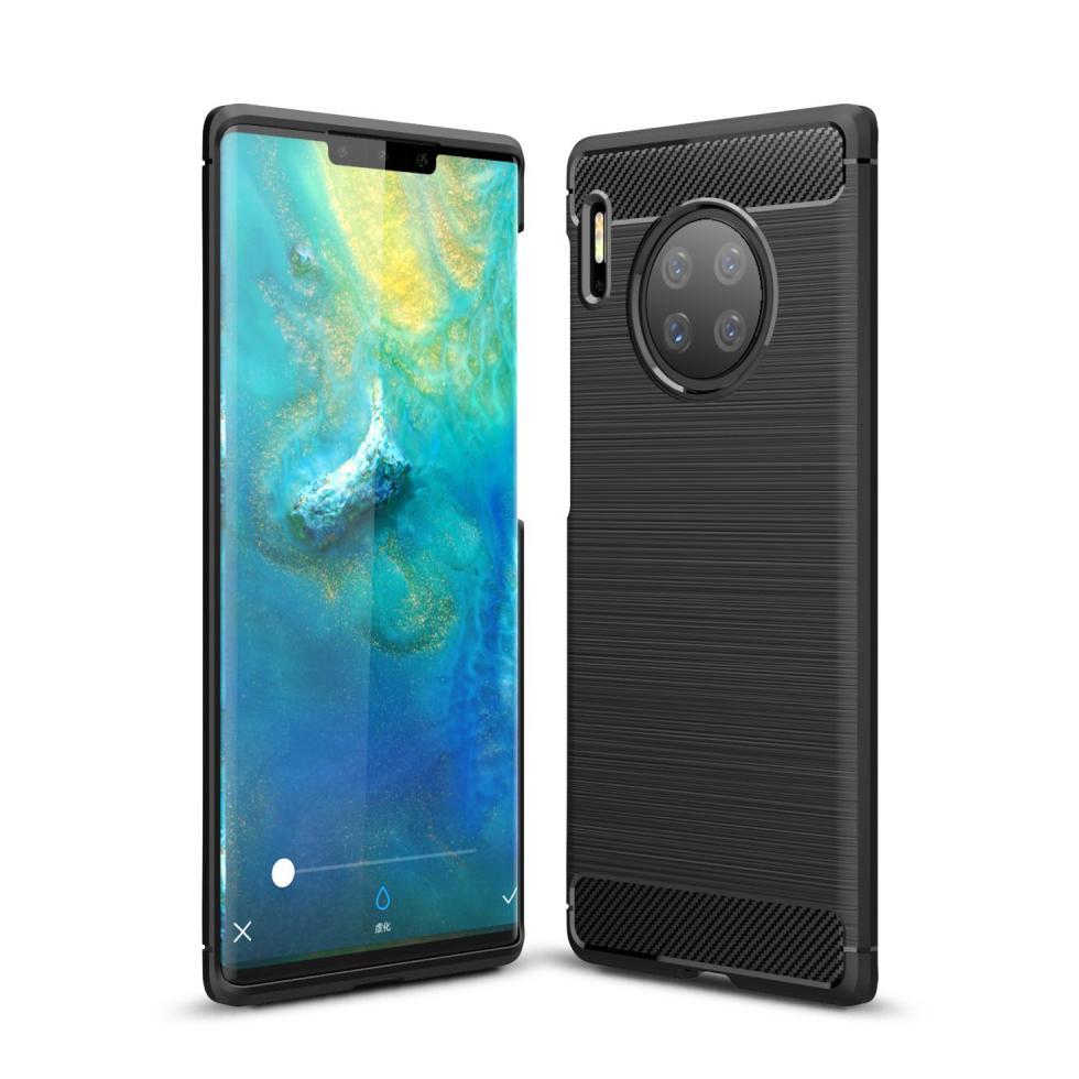 Brushed TPU Deksel Huawei Mate 30 Pro Black