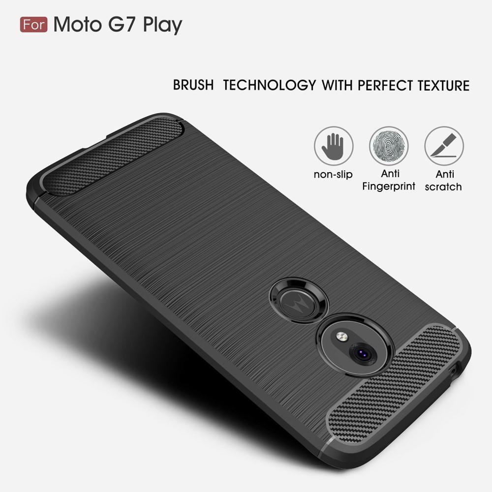 Brushed TPU Deksel Motorola Moto G7 Play Black