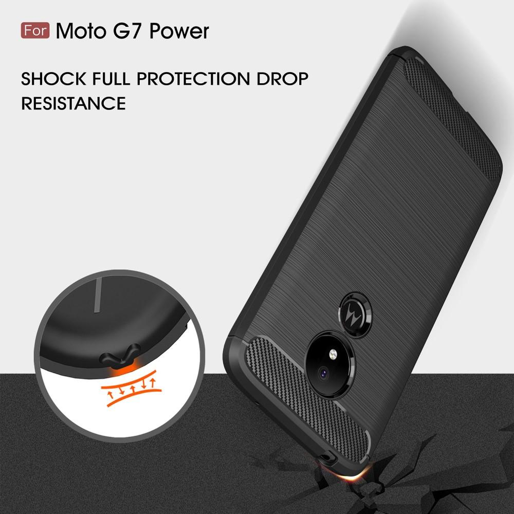 Brushed TPU Deksel Motorola Moto G7 Power Black