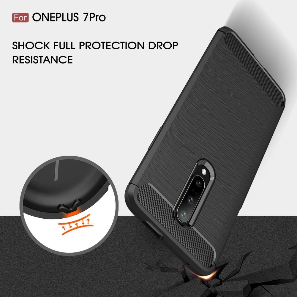 Brushed TPU Deksel OnePlus 7 Pro Black