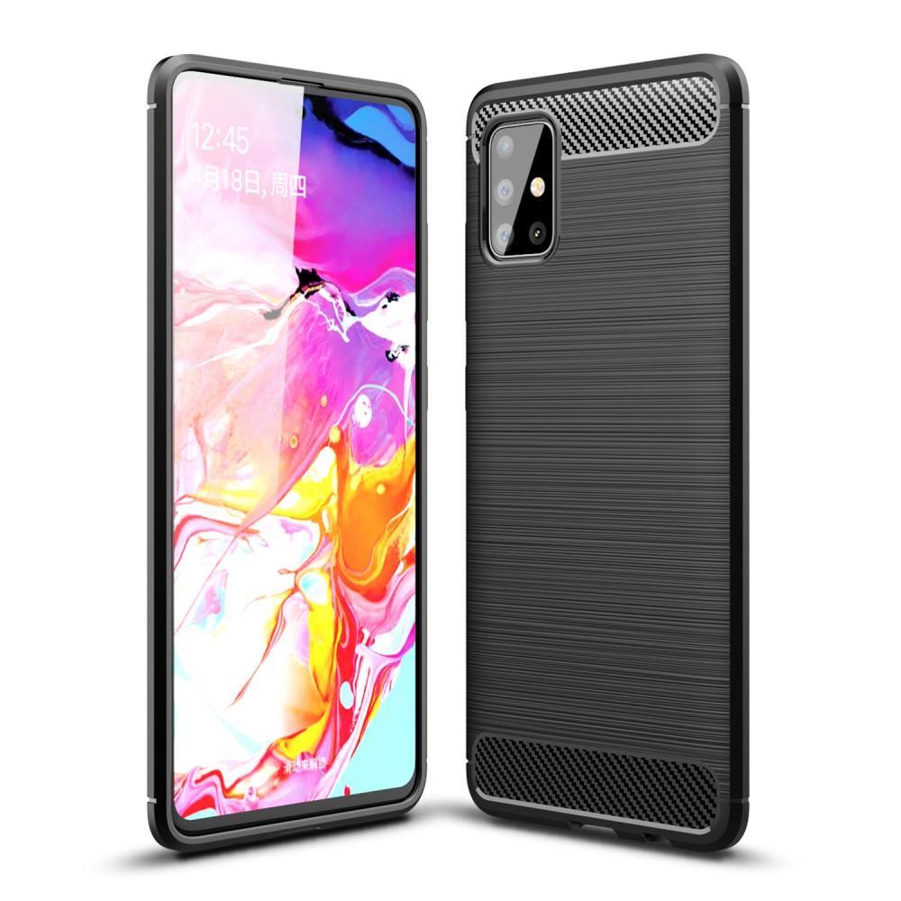 Brushed TPU Deksel Samsung Galaxy A51 Black
