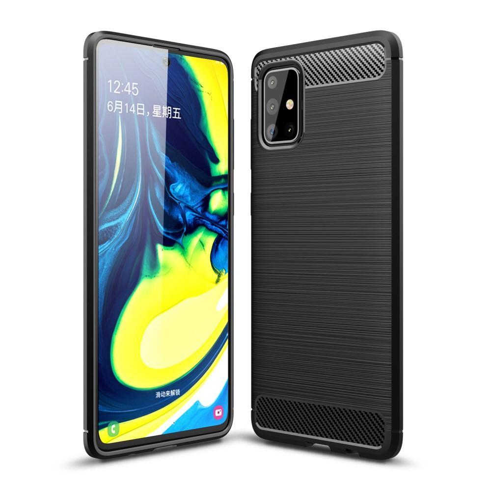 Brushed TPU Deksel Samsung Galaxy A71 Black