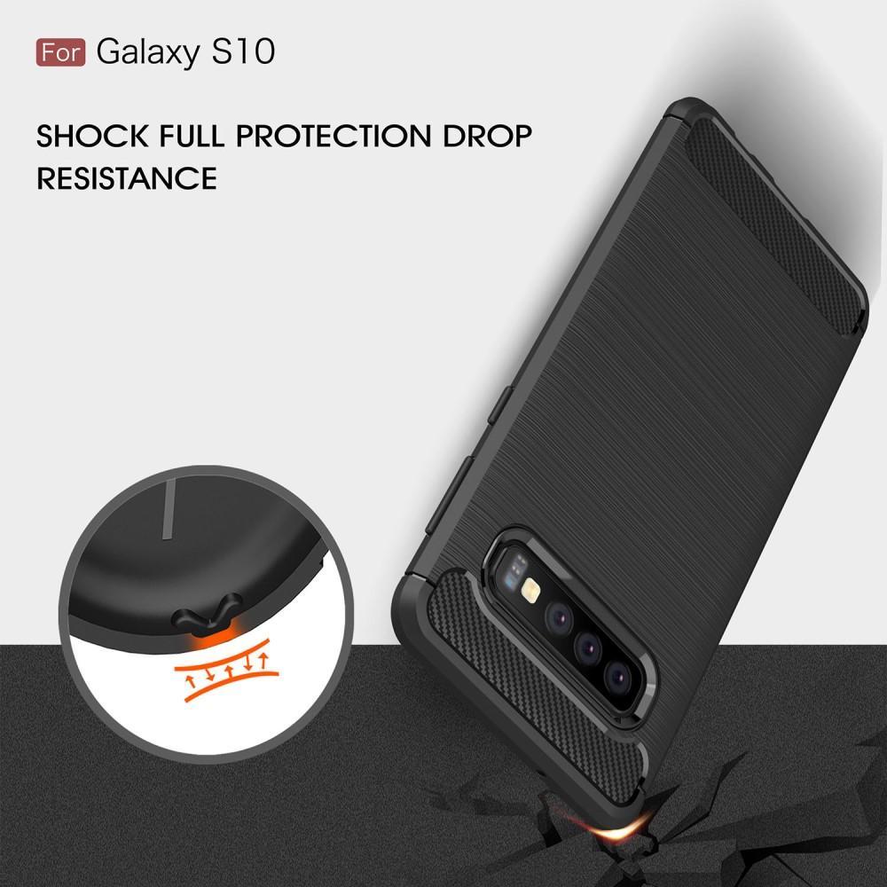Brushed TPU Deksel Samsung Galaxy S10 black