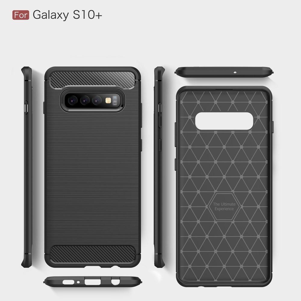 Brushed TPU Deksel Samsung Galaxy S10 Plus black