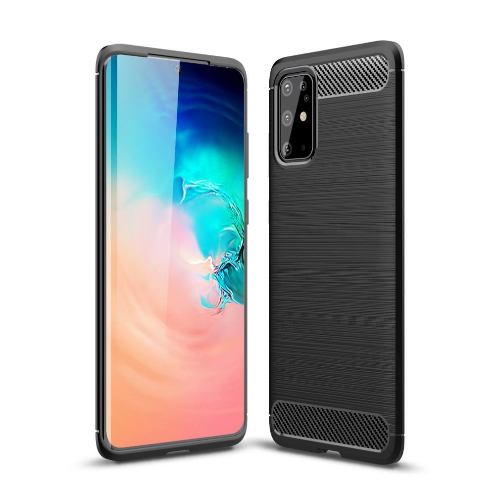 Brushed TPU Deksel Samsung Galaxy S20 Plus Black