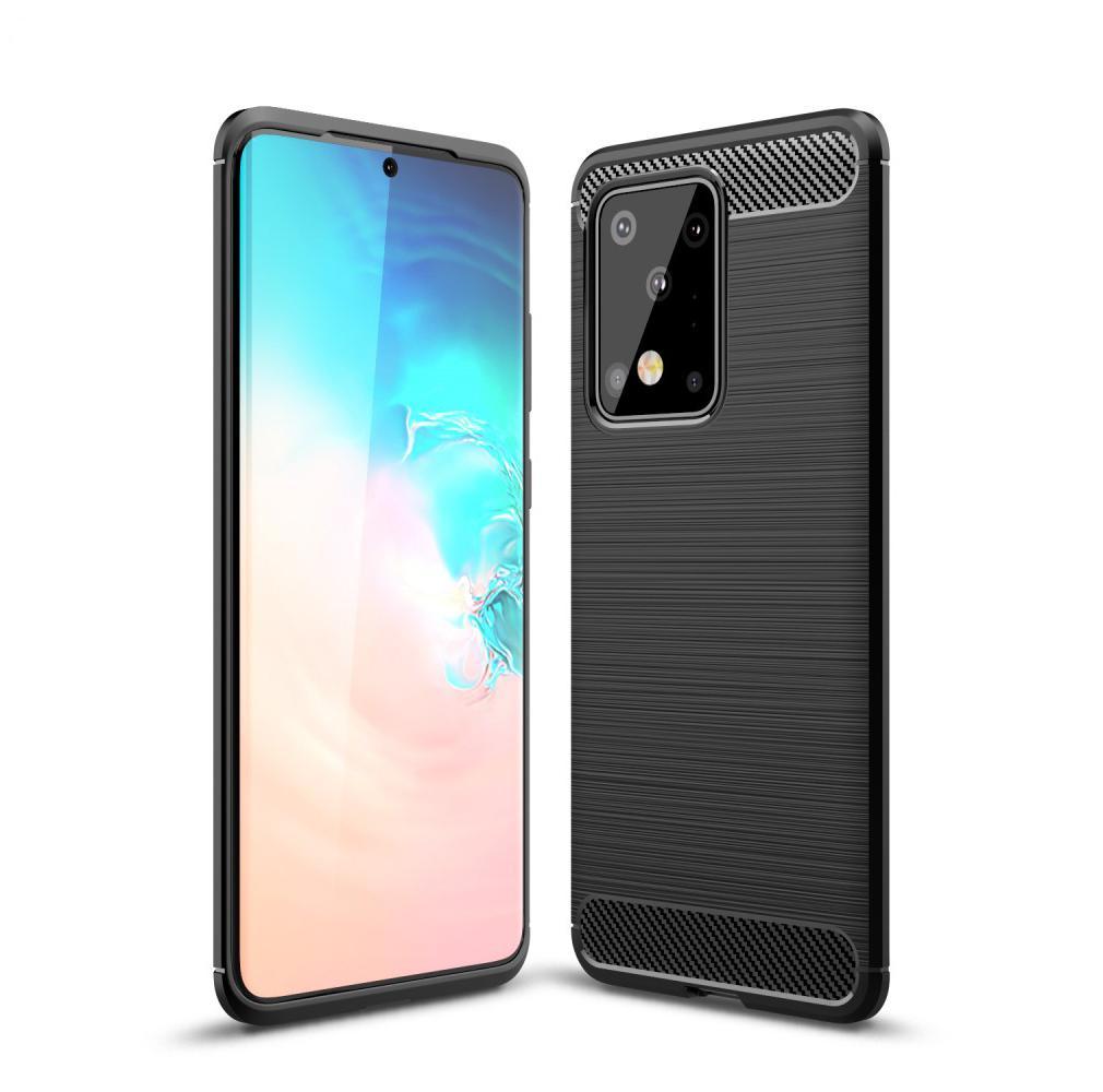 Brushed TPU Deksel Samsung Galaxy S20 Ultra Black