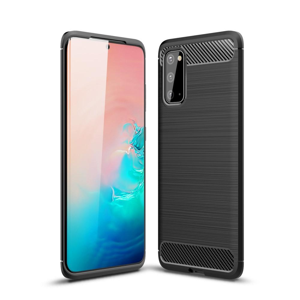 Brushed TPU Deksel Samsung Galaxy S20 Black
