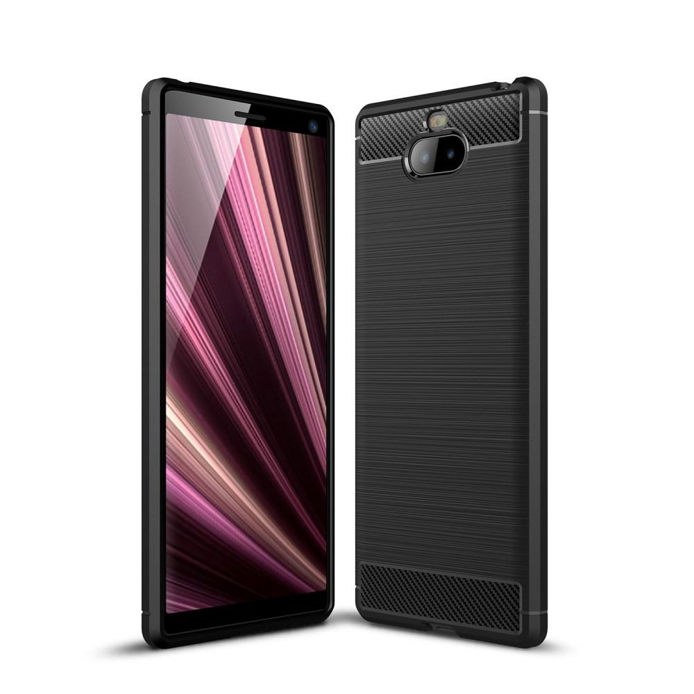 Brushed TPU Deksel Sony Xperia 10 Plus Black