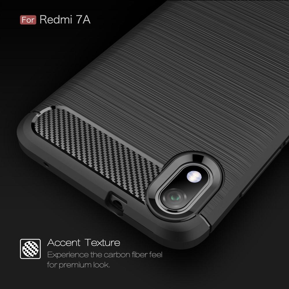 Brushed TPU Deksel Xiaomi Redmi 7A Black