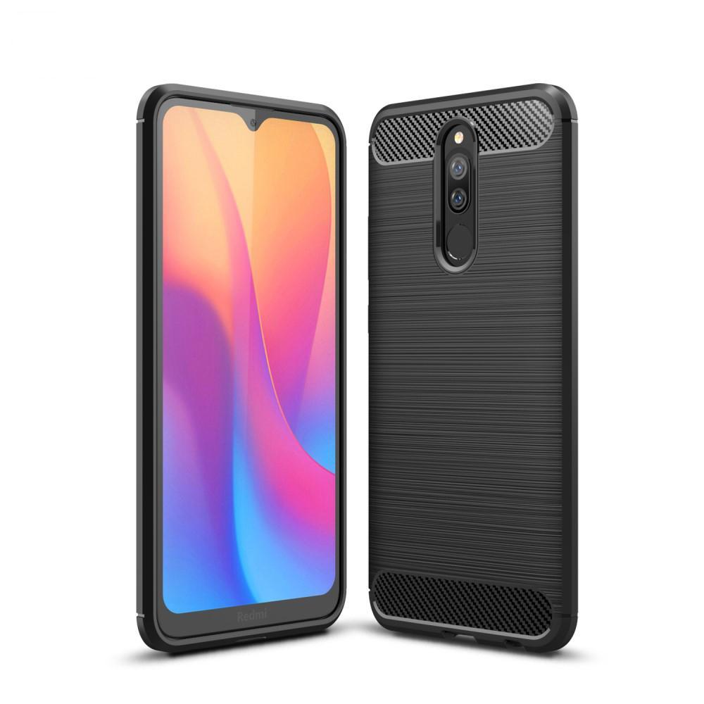 Brushed TPU Deksel Xiaomi Redmi 8/8A Black