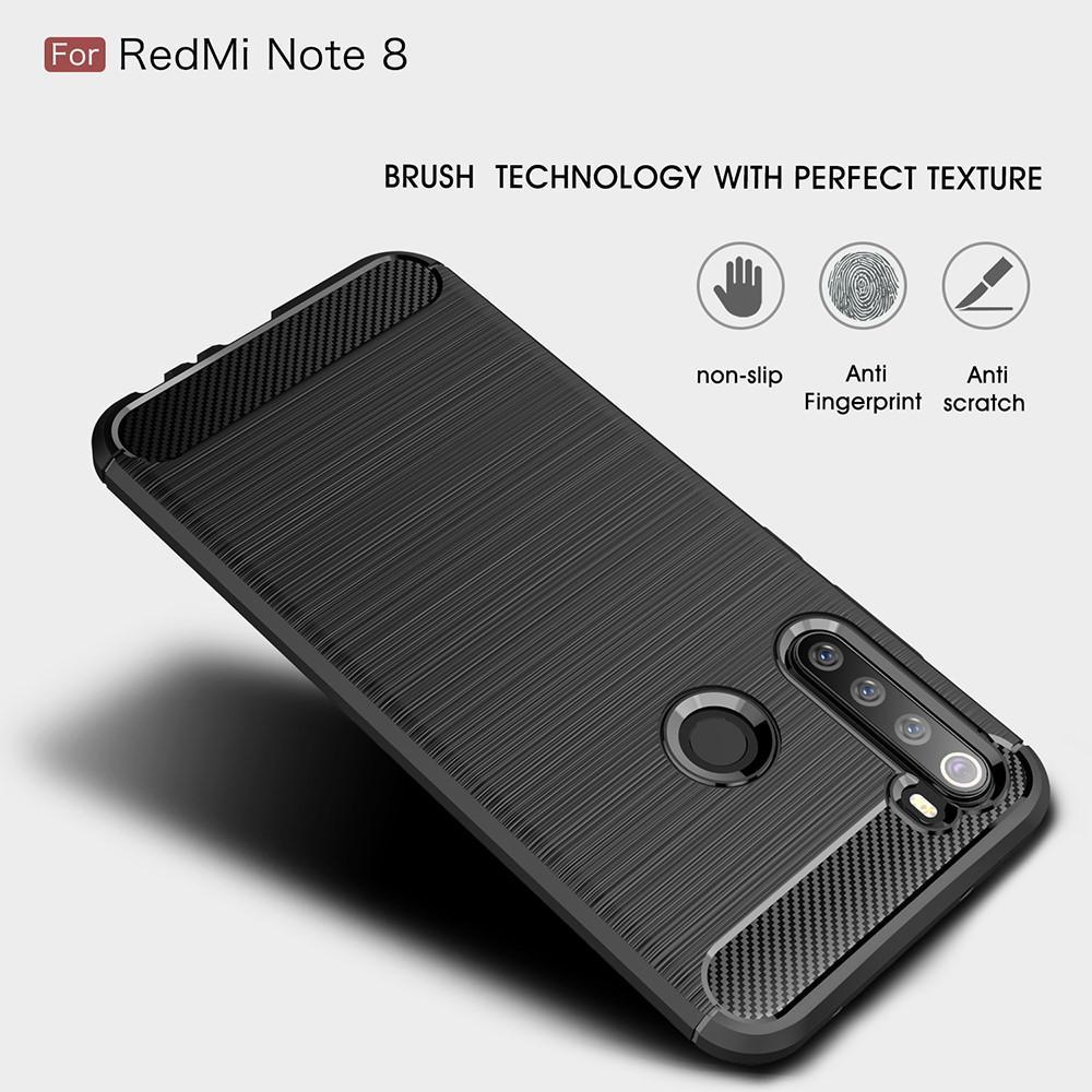 Brushed TPU Deksel Xiaomi Redmi Note 8 Black