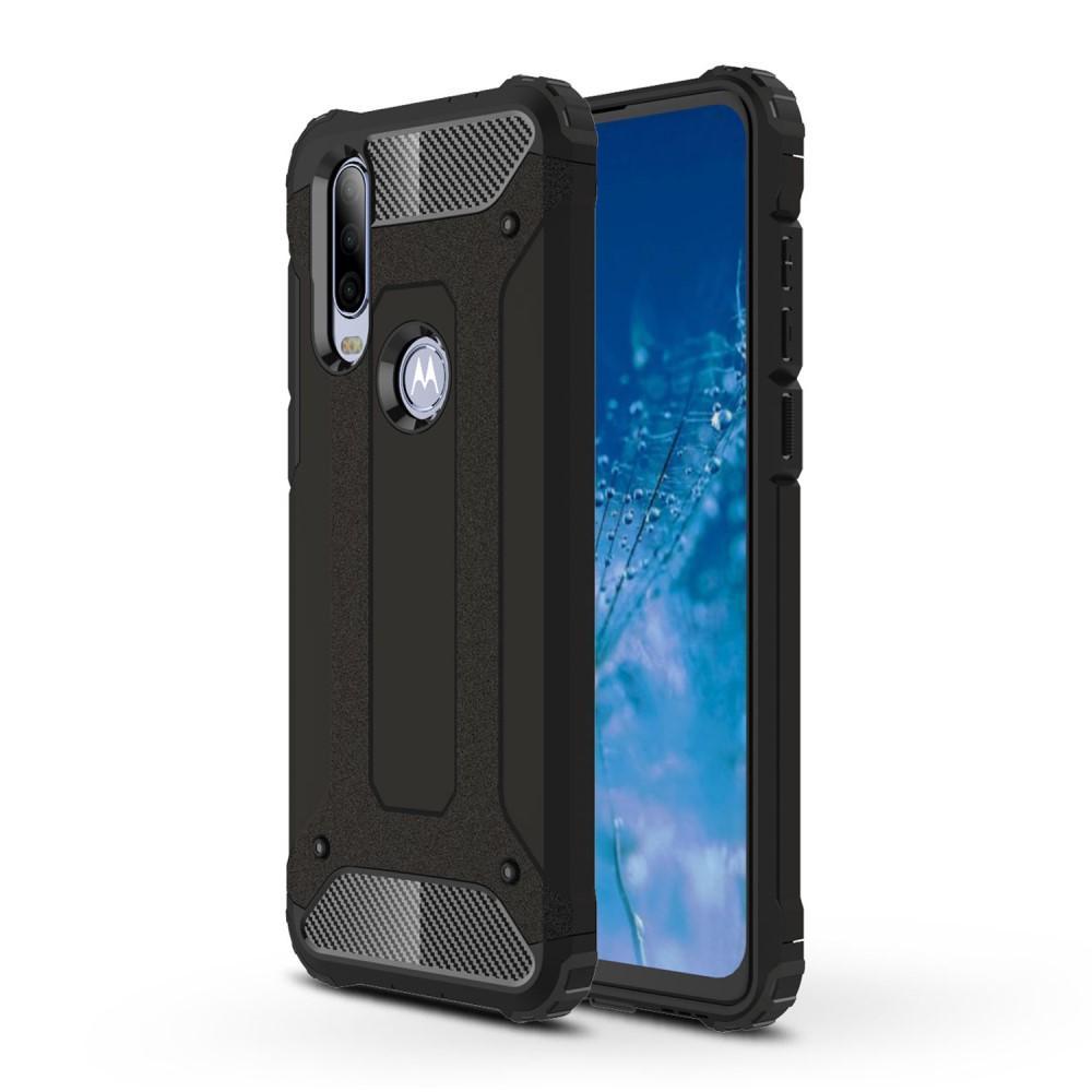 Hybriddeksel Tough Motorola One Action svart
