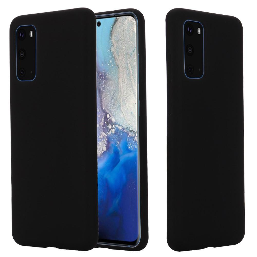 Liquid Silicone Case Galaxy S20 Plus Black
