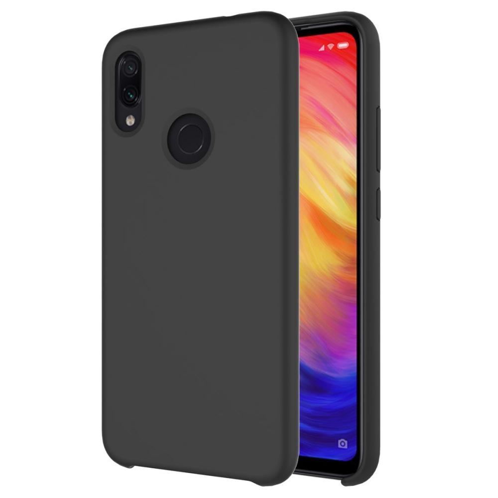 Liquid Silicone Case Xiaomi Redmi Note 7 Black