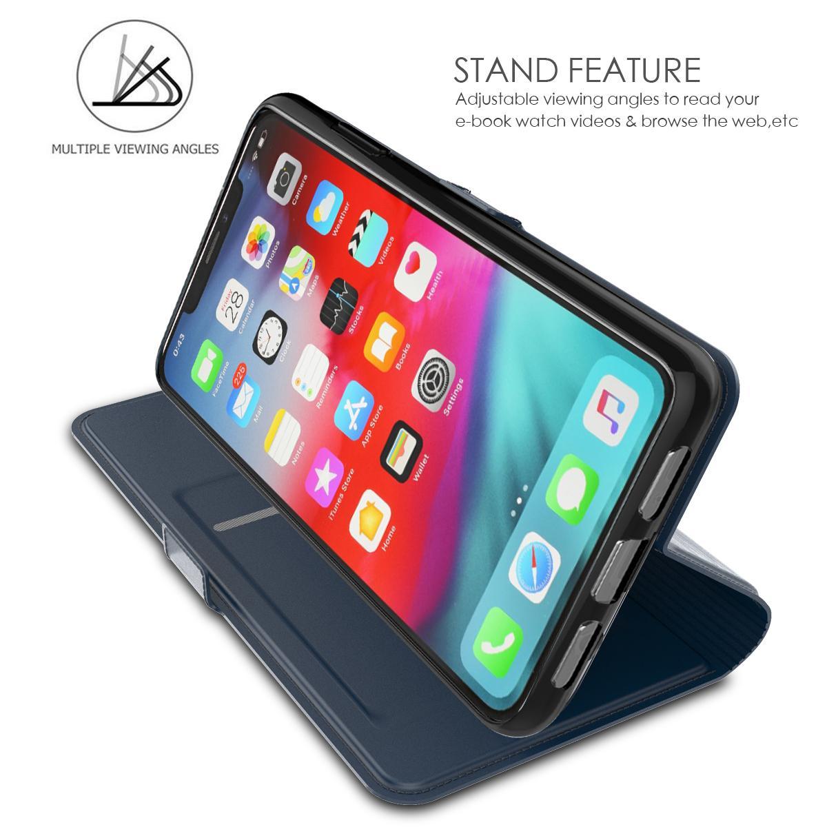 Slim Card Wallet iPhone 11 Pro Max blå
