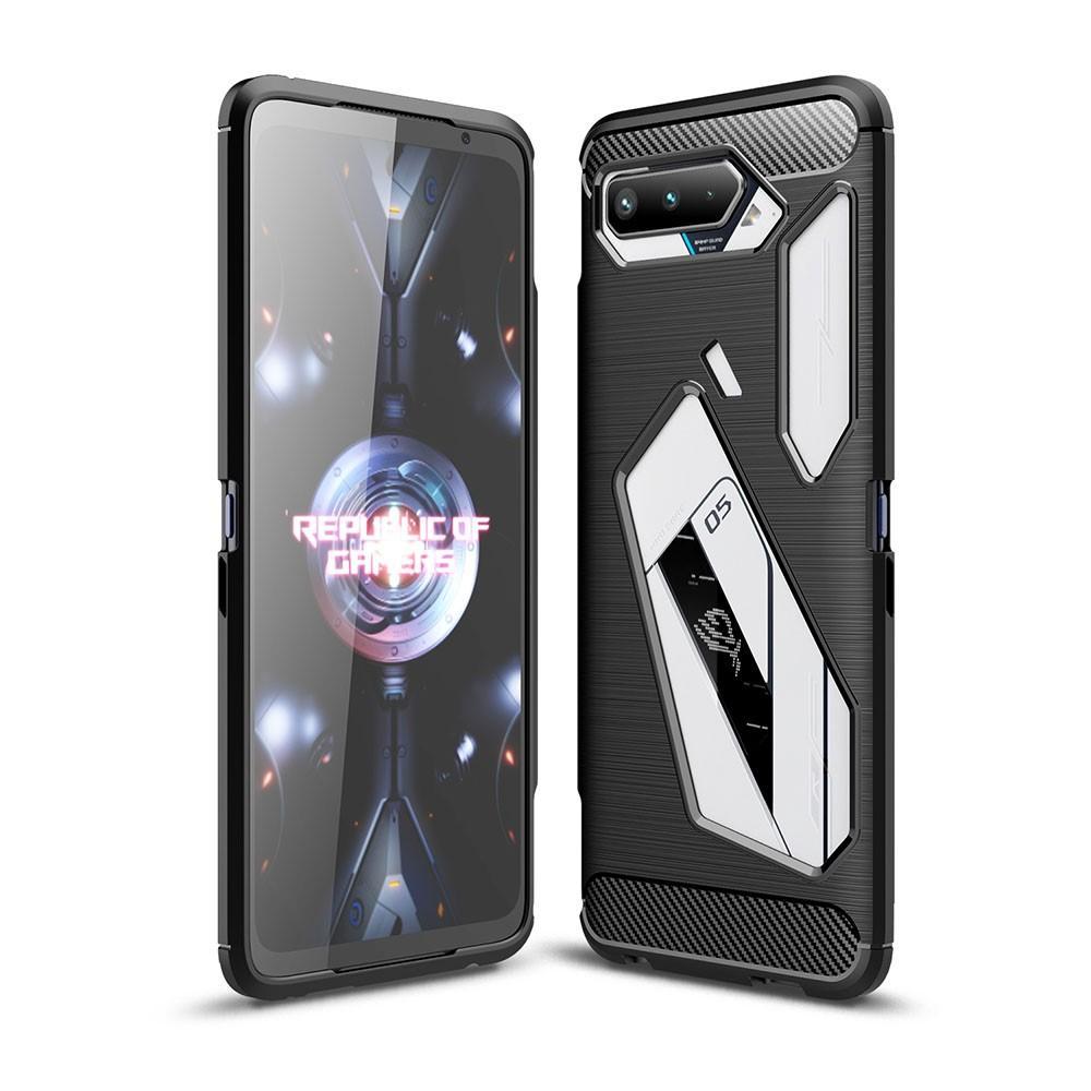 Brushed TPU Deksel Asus ROG Phone 5 Black