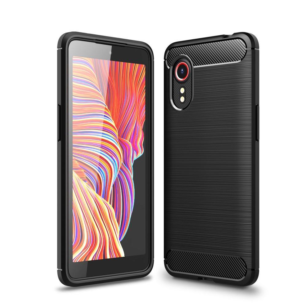 Brushed TPU Deksel Galaxy Xcover 5 Black