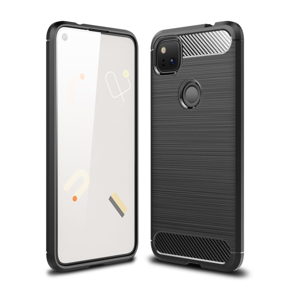 Brushed TPU Deksel Google Pixel 4a Black