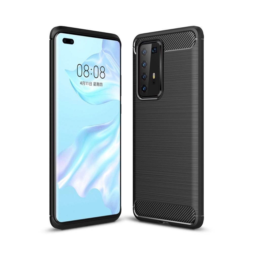 Brushed TPU Deksel Huawei P40 Pro Black