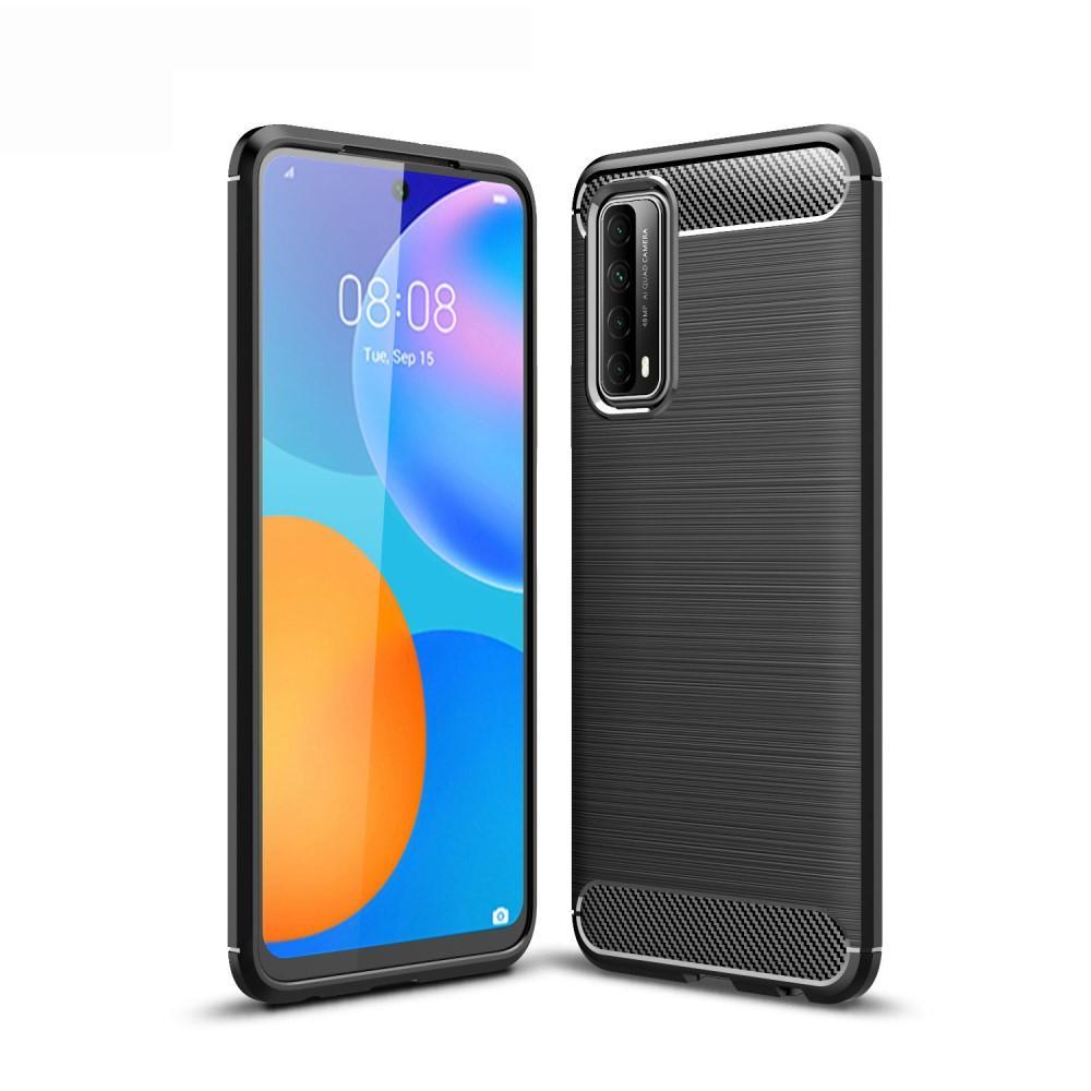 Brushed TPU Deksel Huawei P smart 2021 Black