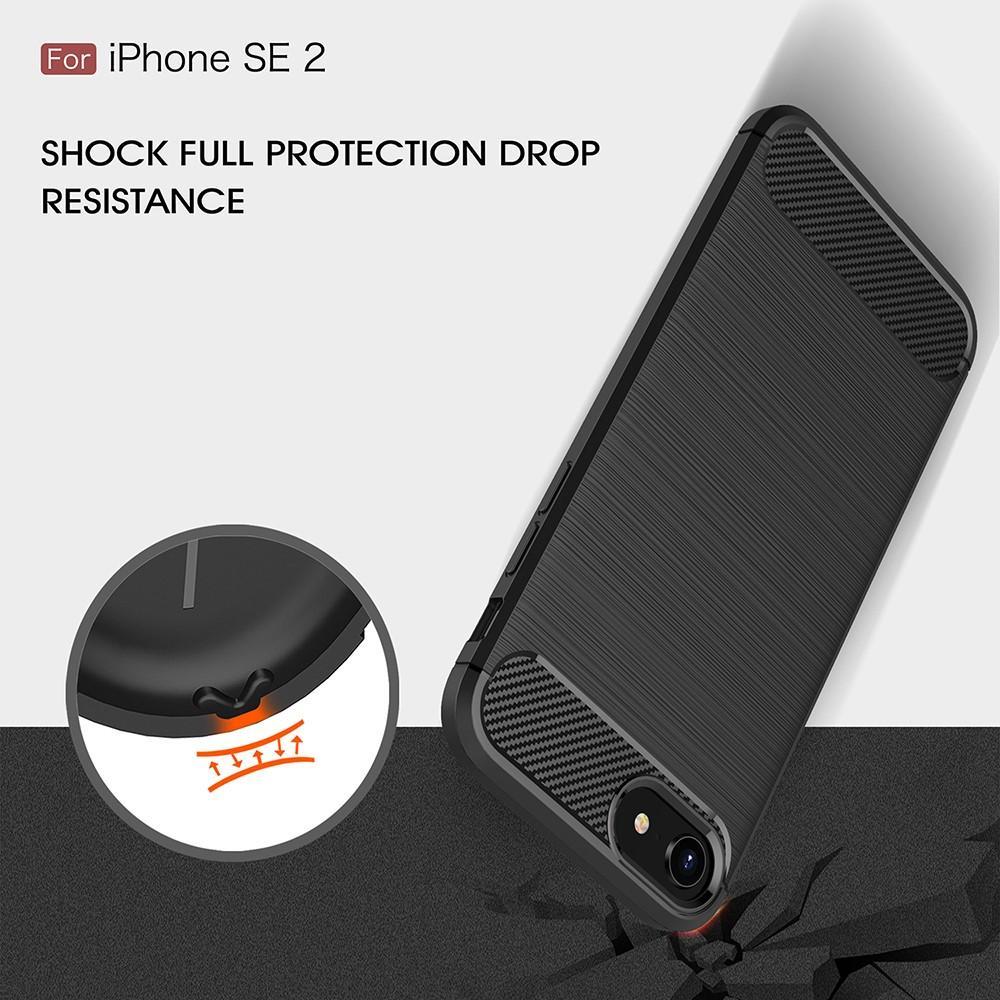 Brushed TPU Deksel Apple iPhone 7/8/SE 2020 black