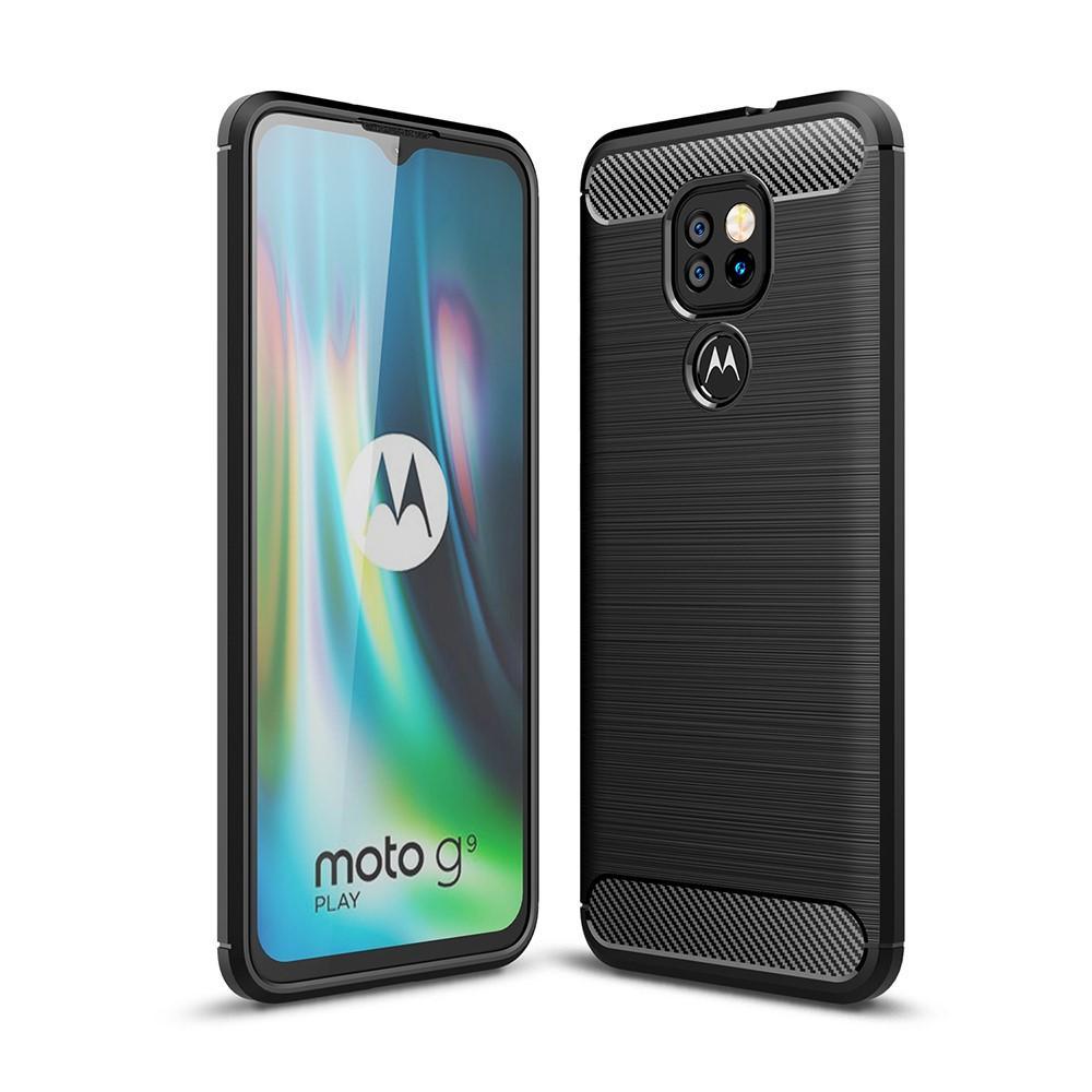 Brushed TPU Deksel Motorola Moto G9 Play Black