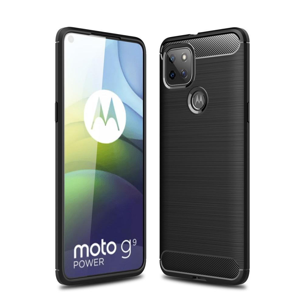 Brushed TPU Deksel Motorola Moto G9 Power Black