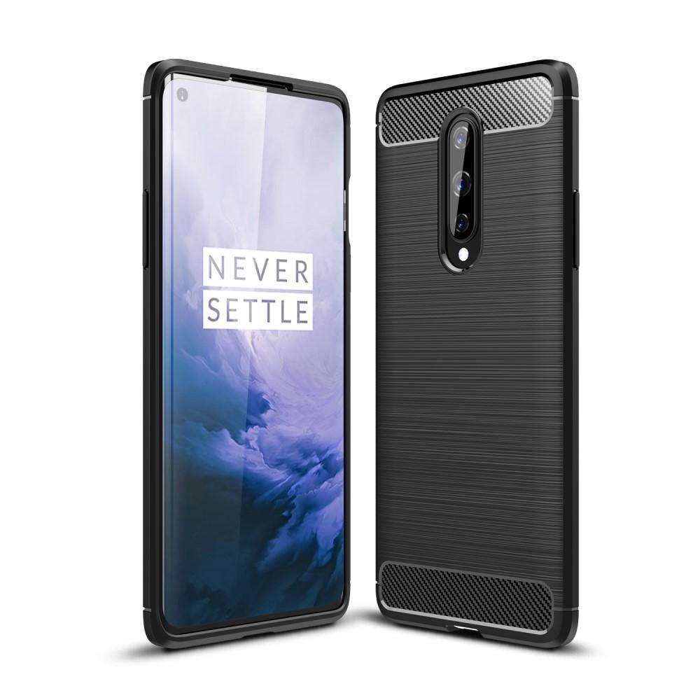 Brushed TPU Deksel OnePlus 8 Black