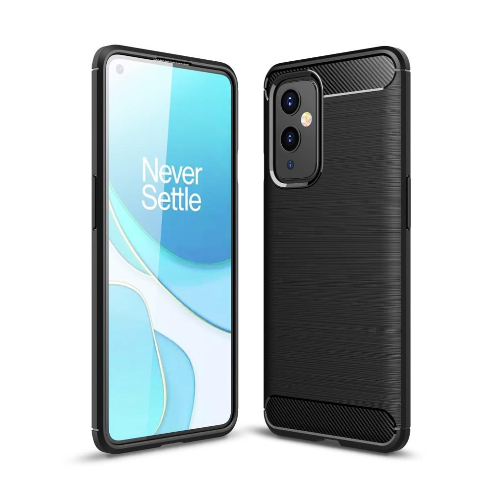 Brushed TPU Deksel OnePlus 9 Black