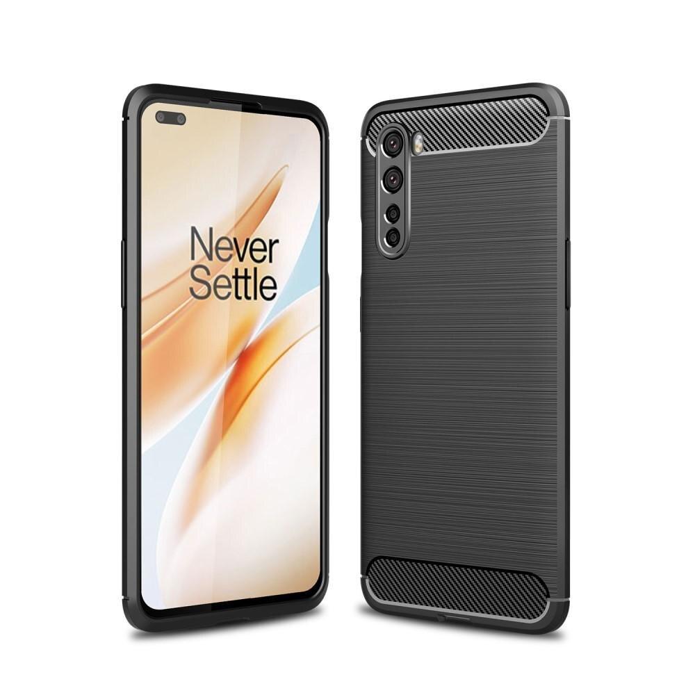 Brushed TPU Deksel OnePlus Nord Black