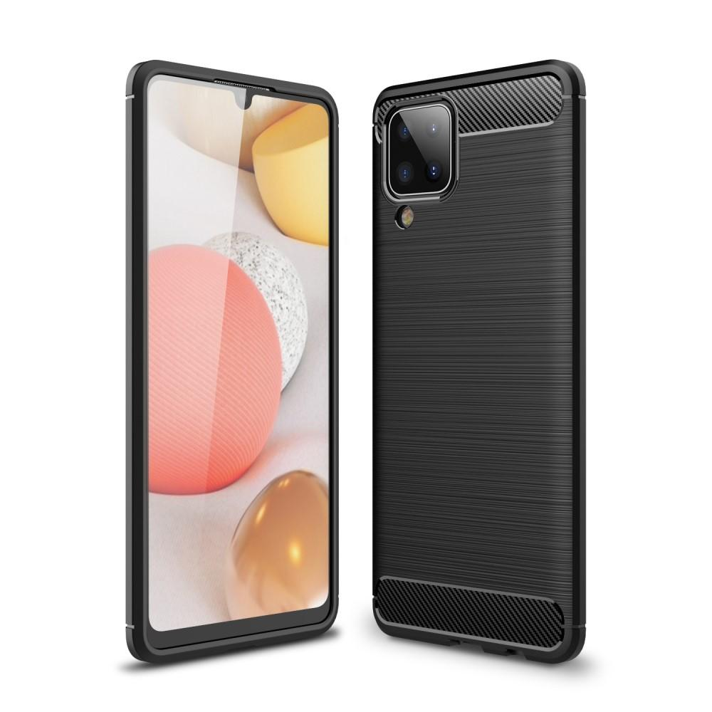 Brushed TPU Deksel Samsung Galaxy A12 Black