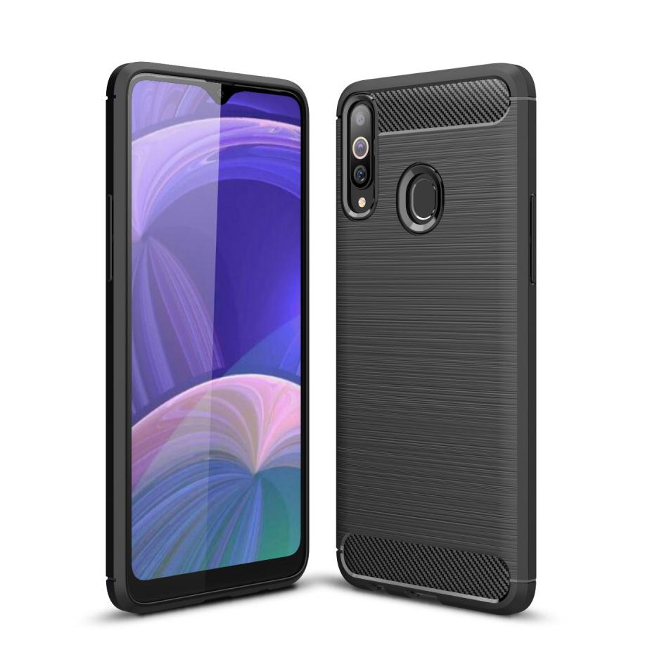 Brushed TPU Deksel Samsung Galaxy A20s Black