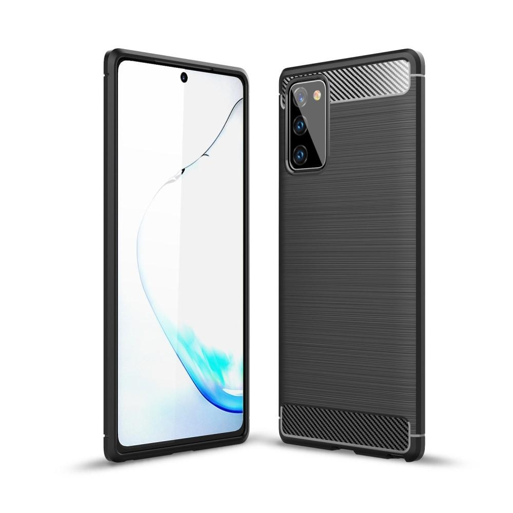 Brushed TPU Deksel Samsung Galaxy Note 20 Black