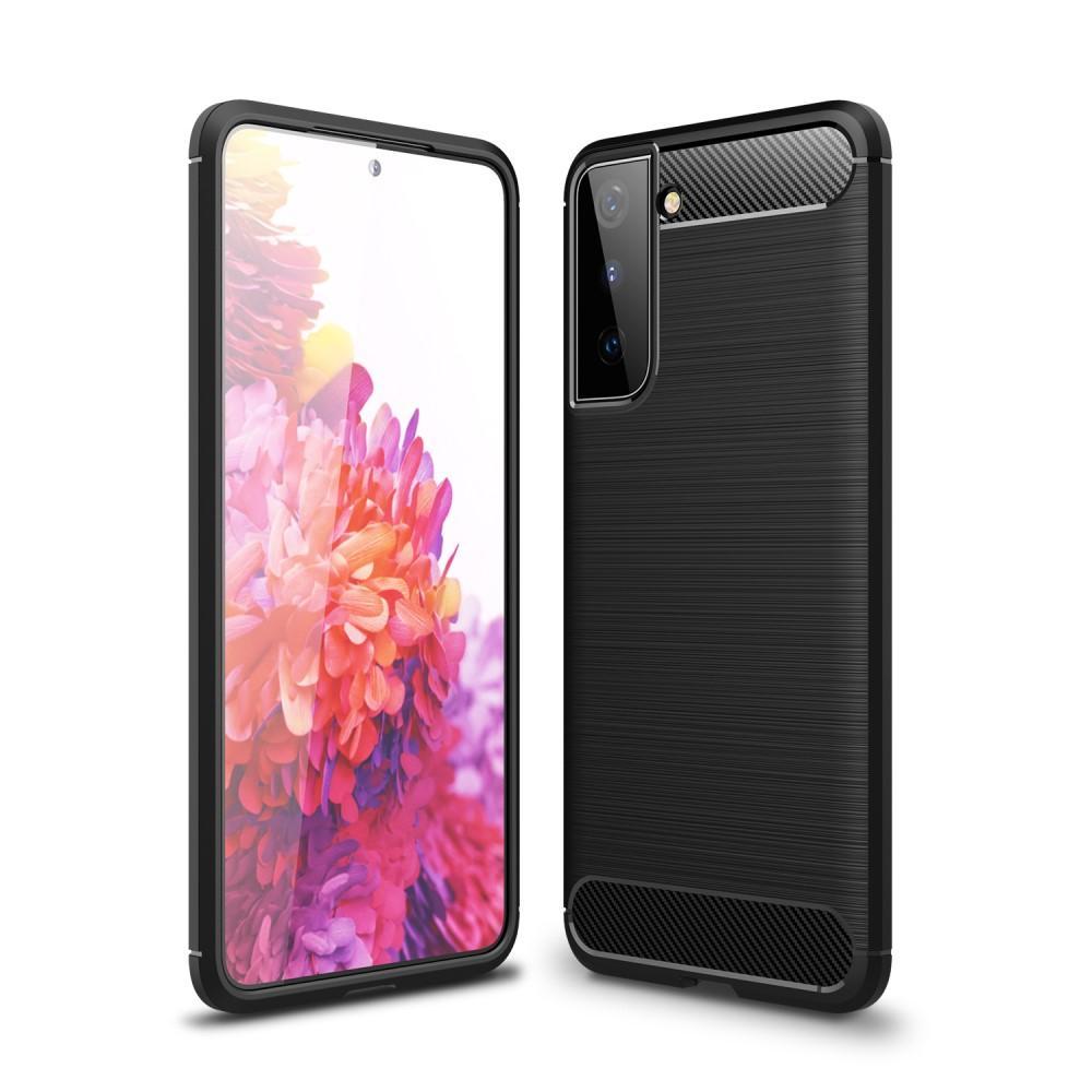Brushed TPU Deksel Samsung Galaxy S21 Plus Black