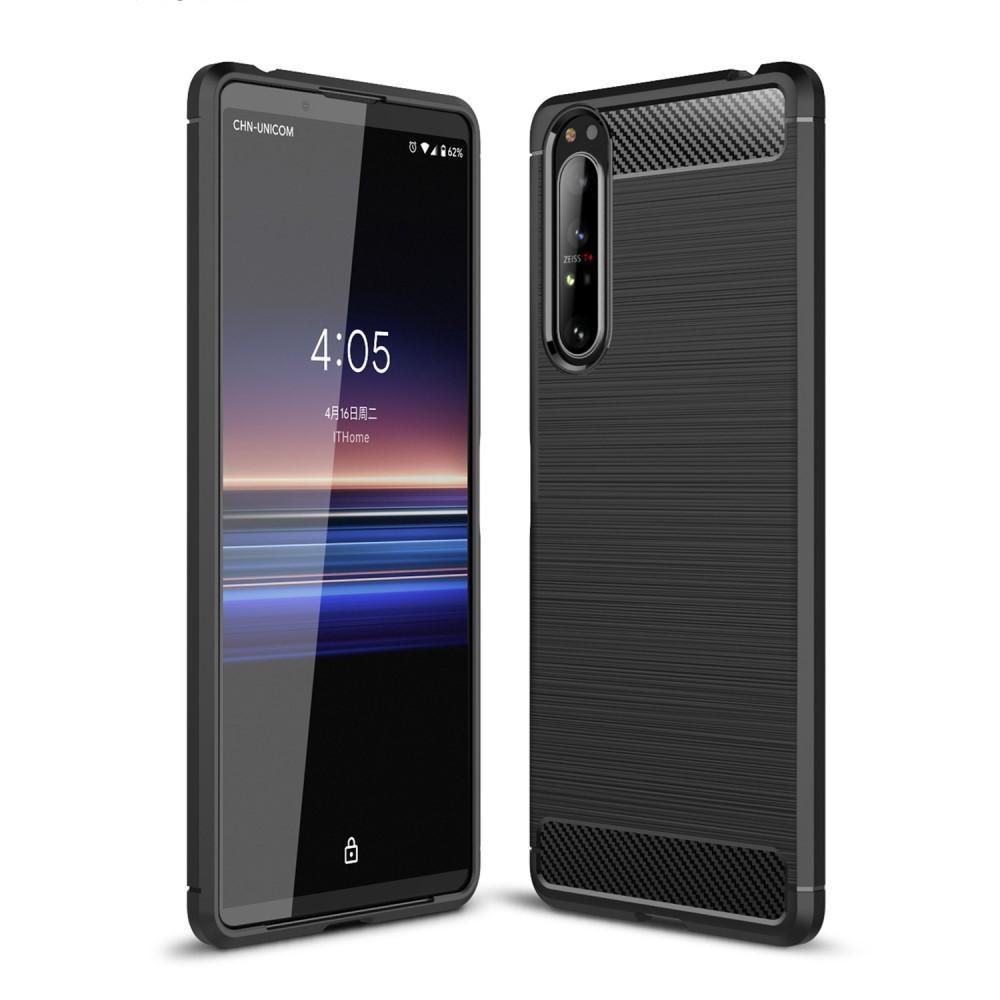 Brushed TPU Deksel Sony Xperia 1 II Black