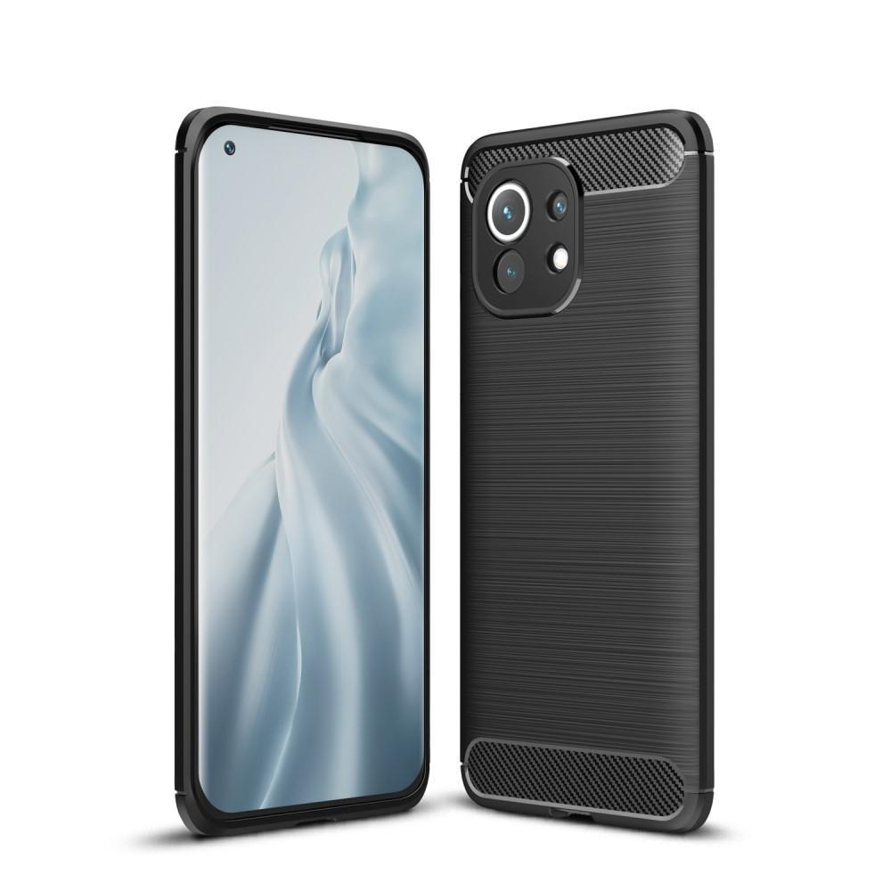 Brushed TPU Deksel Xiaomi Mi 11 Black
