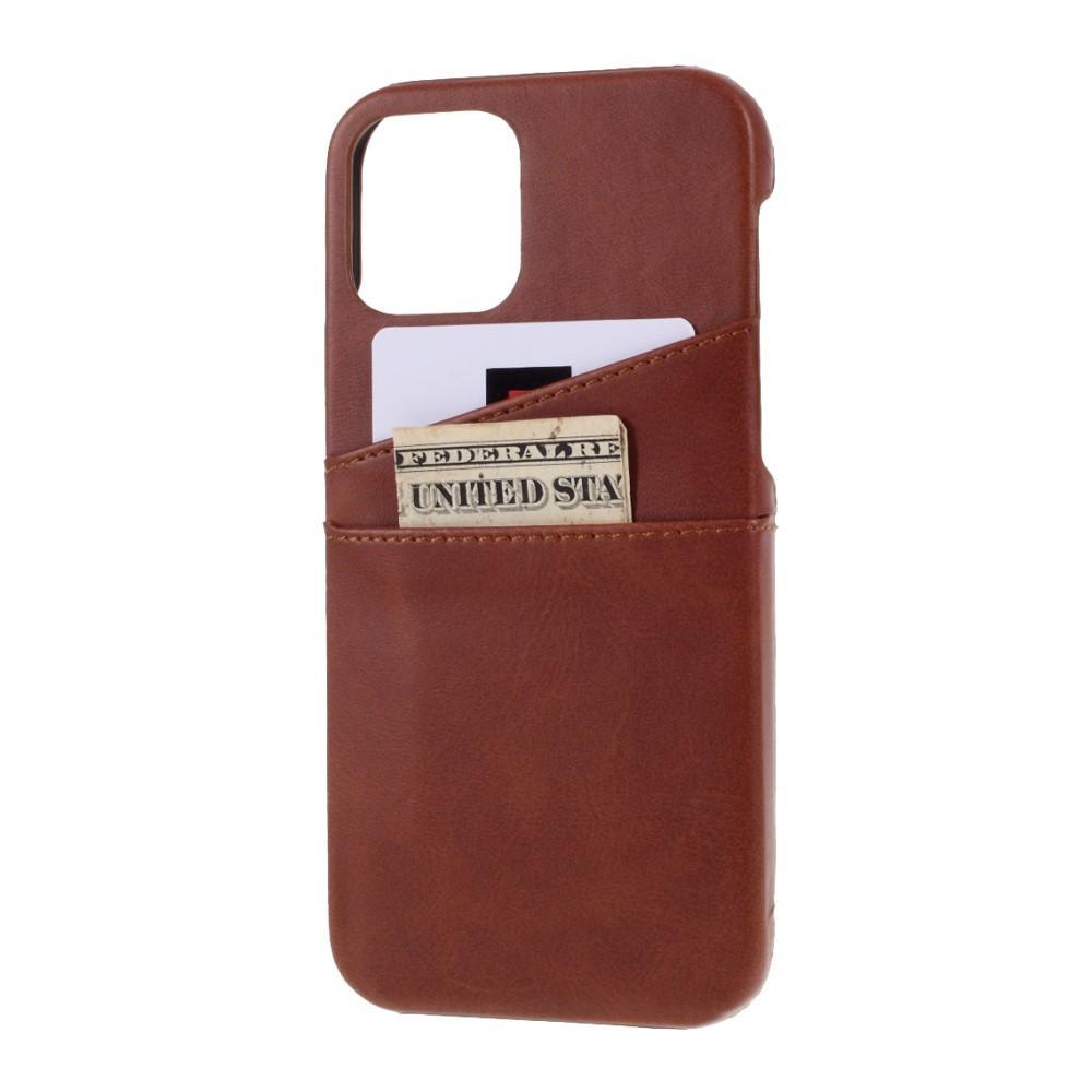 Card Slots Case iPhone 12/12 Pro brun