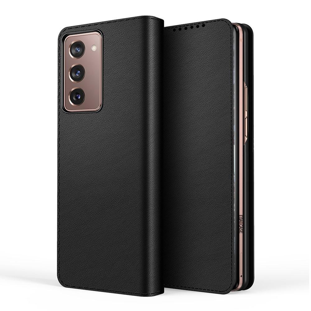 Ekte Lærveske Samsung Galaxy Z Fold2 5G svart