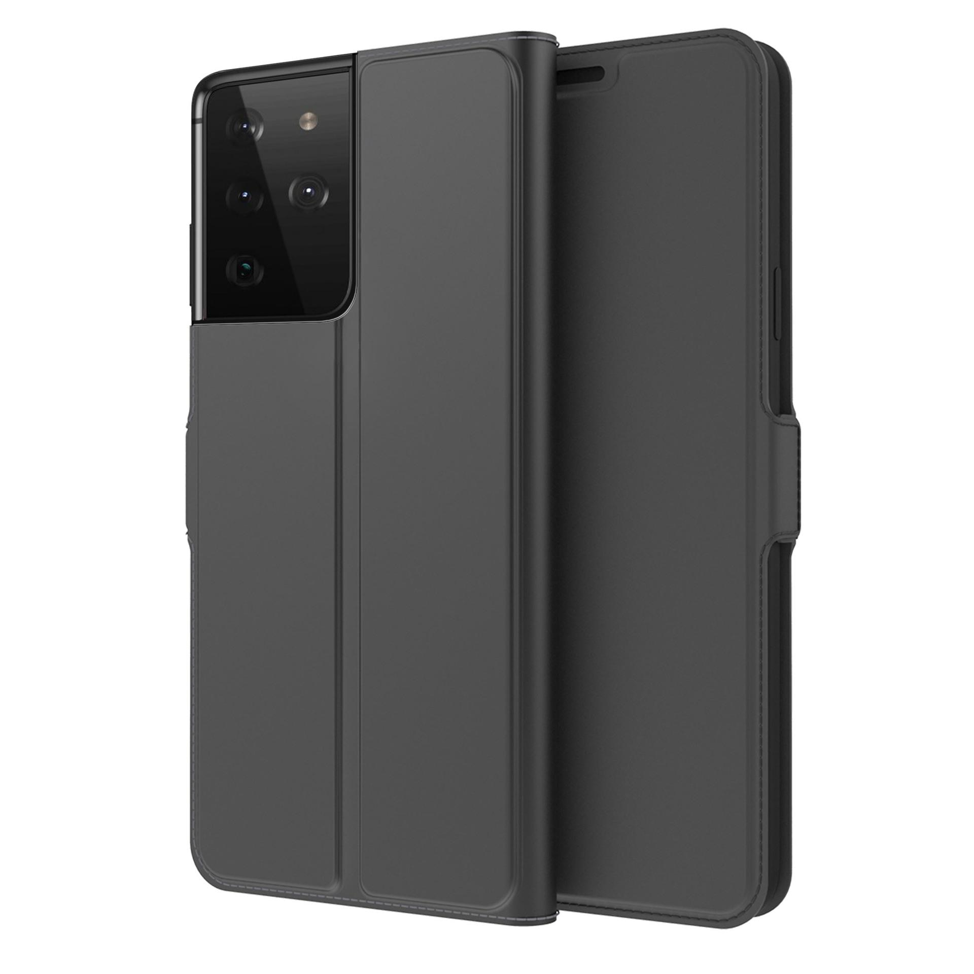 Slim Card Wallet Galaxy S21 Ultra svart