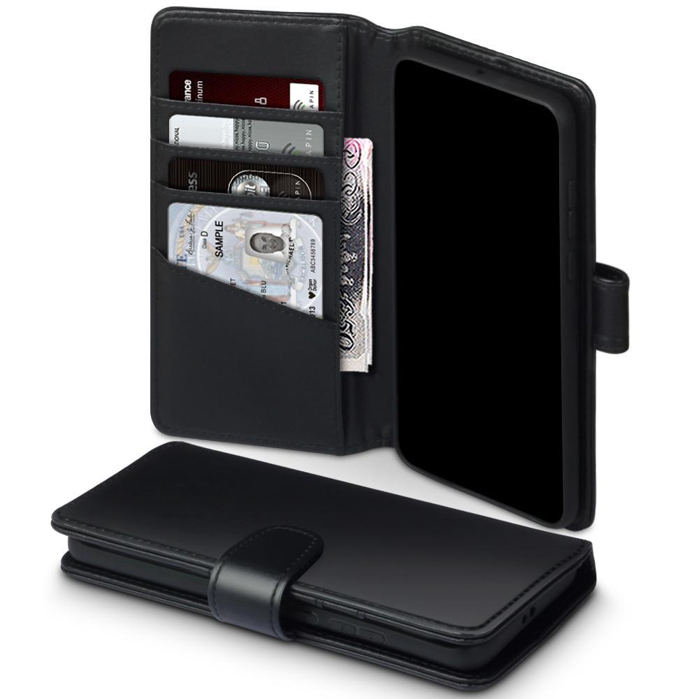 Ekte Lærlommebok Huawei P40 Pro svart
