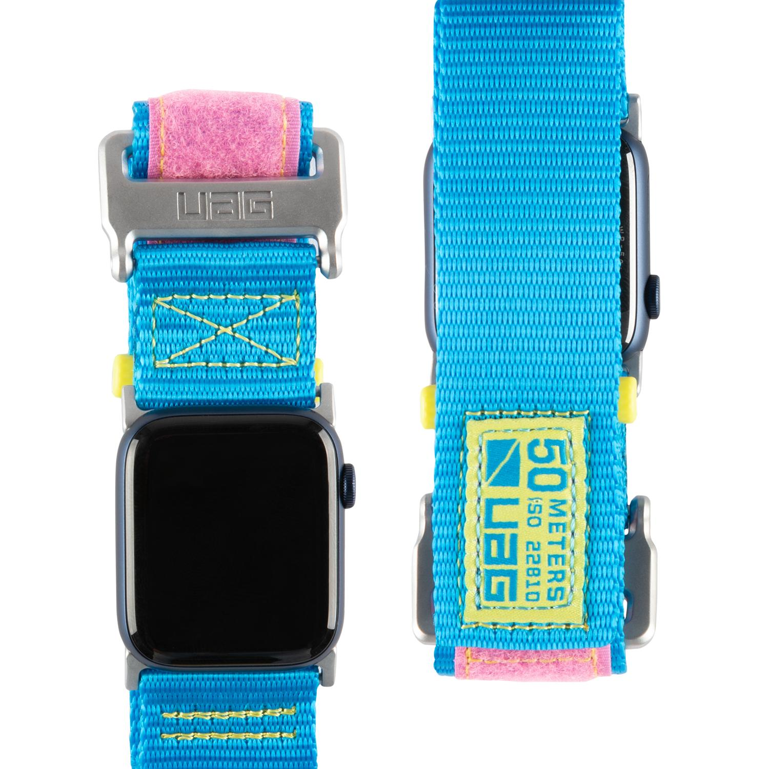 Active LE Strap Apple Watch 42/44 mm 80s Blue/Pink
