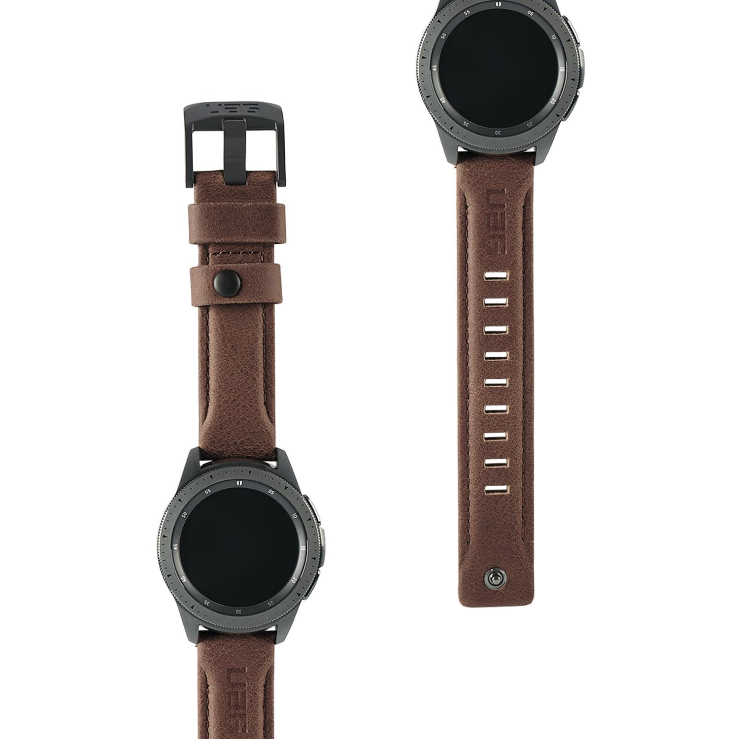 Leather Watch Strap Galaxy Watch Active/42mm Brown
