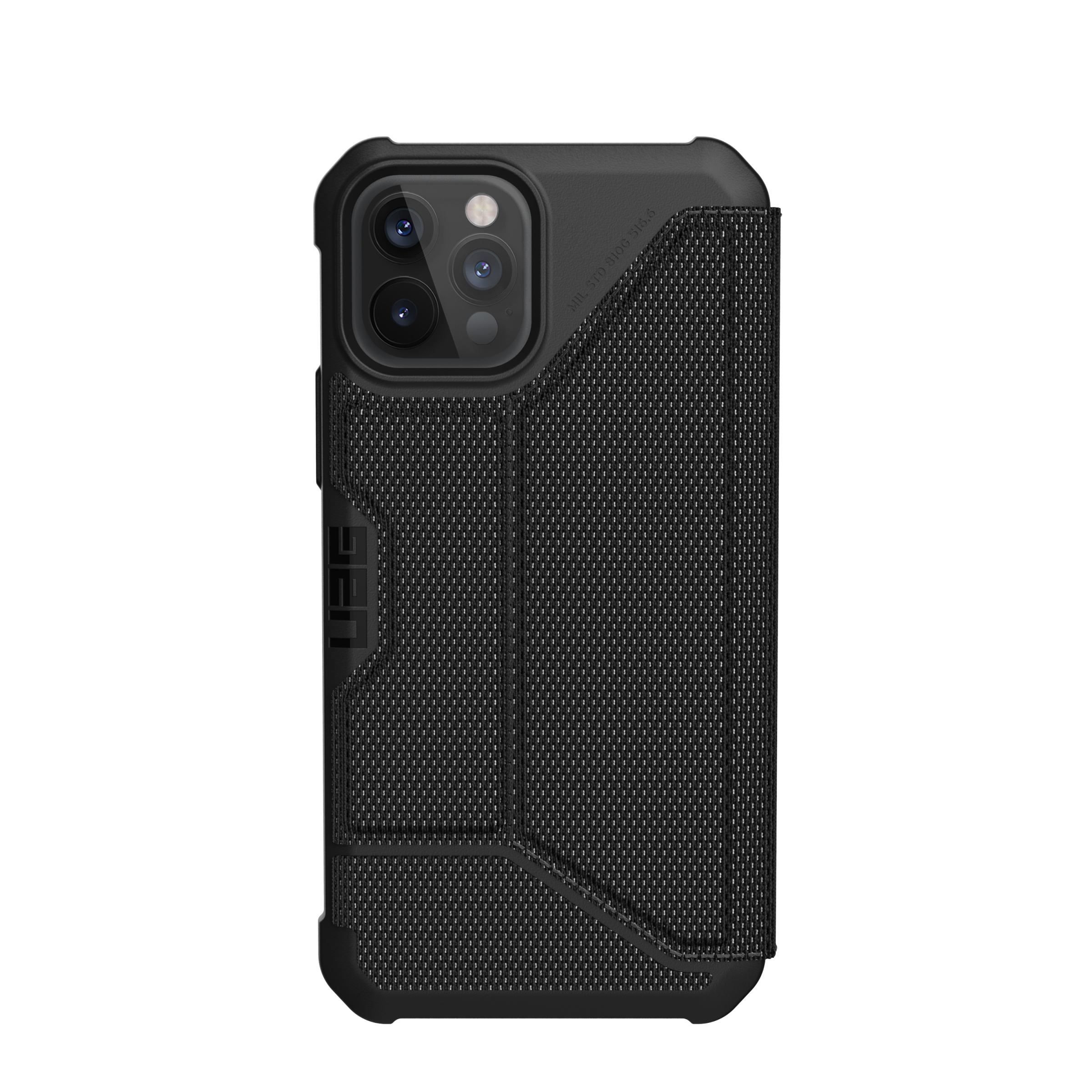 Metropolis Wallet Case iPhone 12/12 Pro Kevlar Black
