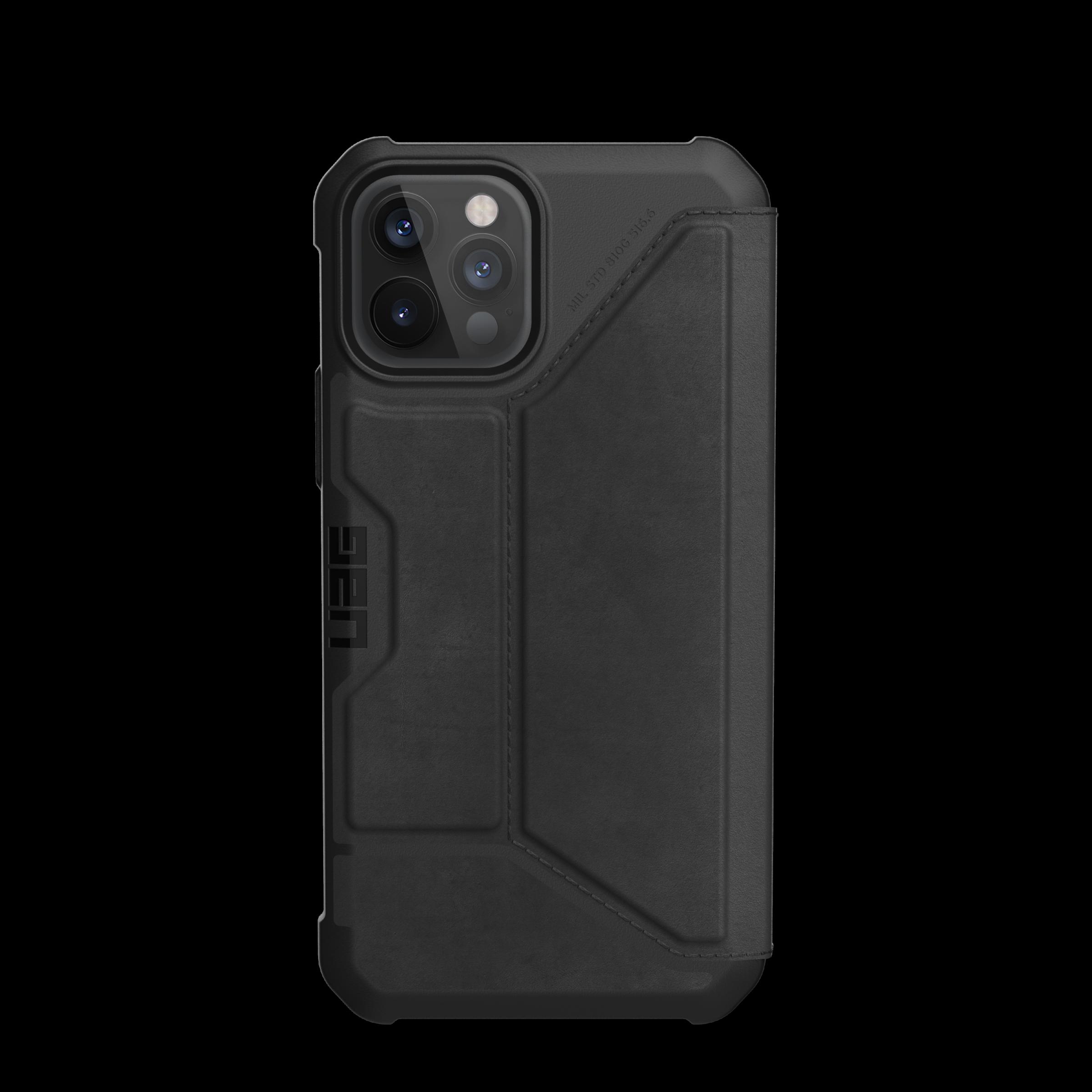 Metropolis Wallet Case iPhone 12/12 Pro Leather Black