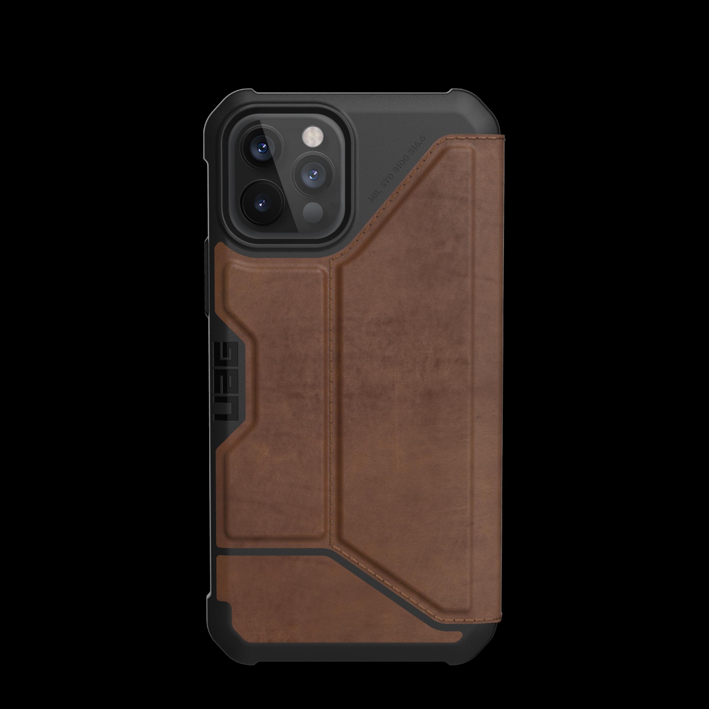 Metropolis Wallet Case iPhone 12/12 Pro Leather Brown