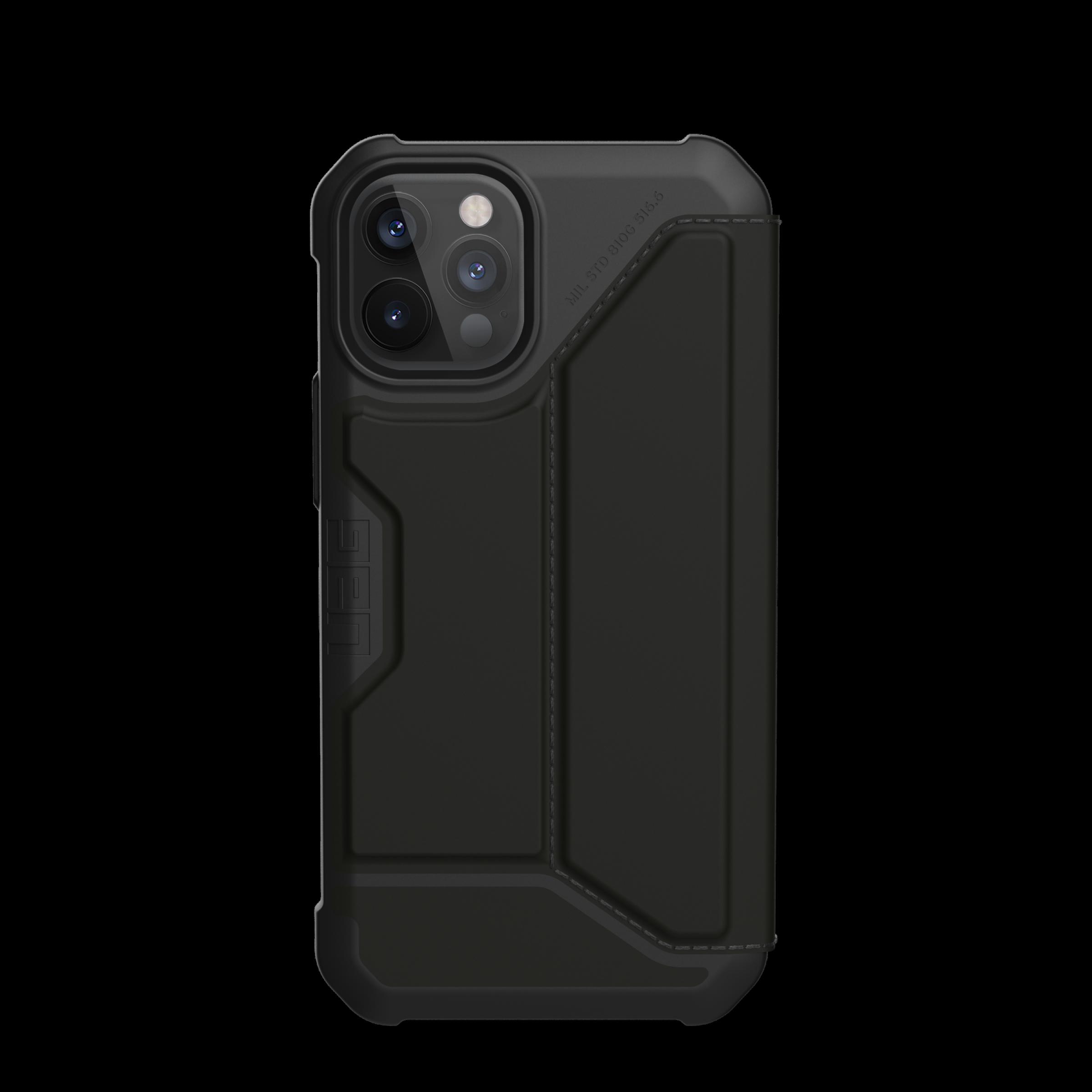 Metropolis Wallet Case iPhone 12/12 Pro Satin Black
