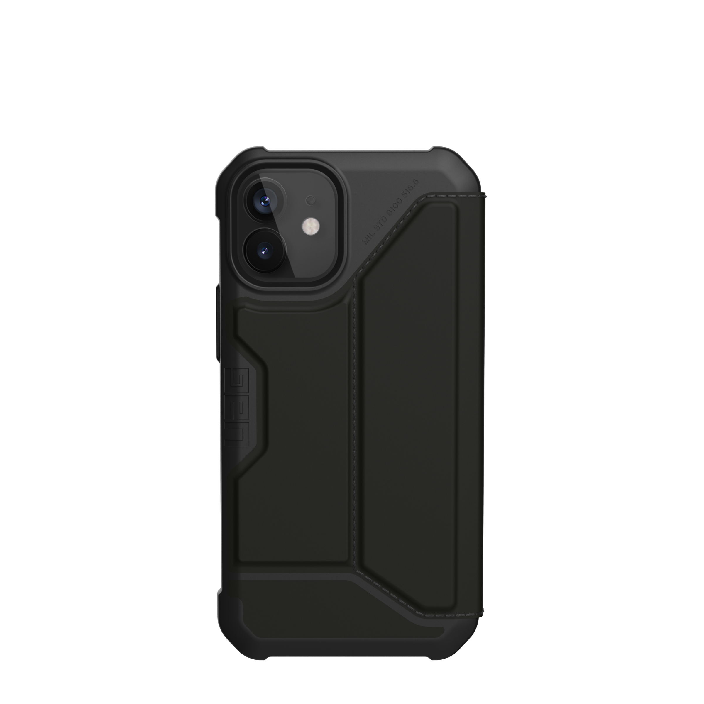 Metropolis Wallet Case iPhone 12 Mini Satin Black